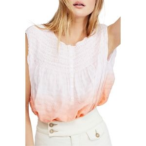 NWT Anthropologie Free People Pink Ombre Blouse
